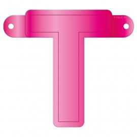 Banner letter T fuchsia