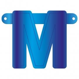 Banner letter M blauw