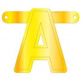 Banner letter A geel