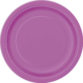 Pretty Purple wegwerp gebakbordjes ø 17,1 cm. 20 st.