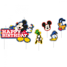 Disney Mickey Mouse happy birthday taart kaarsjes set 17-delig