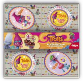 Trolls Poppy cupcake decoratieset 72-delig