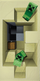 Minecraft strandlaken 70 x 140 cm.