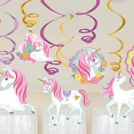 Magical Unicorn draaislingers 12 st.