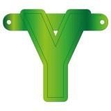 Banner letter Y lime groen
