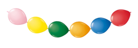 Knoopballonnen multicolor 3 mtr.