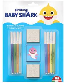 Baby Shark kleur- en stempelset