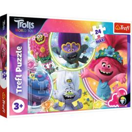 Trolls puzzel World Tour 24 stukjes Maxi