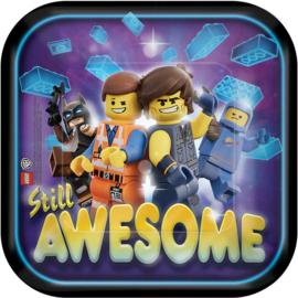 Lego Movie 2 gebakbordjes 18 cm. 8 st.