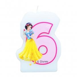 Disney Princess Sneeuwwitje 6e verjaardagskaars