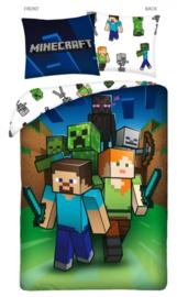 Minecraft dekbedovertrek Groupie 140 x 200 cm.