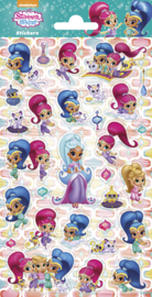 Shimmer and Shine glitter stickervel
