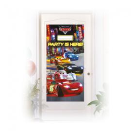 Disney Cars deurposter 176 x 152 cm.