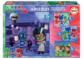 PJ Masks puzzel 12 - 16 - 20 - 25 stukjes