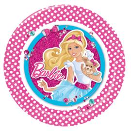 Barbie bordjes ø 23 cm. 8 st.