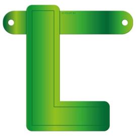 Banner letter L lime groen