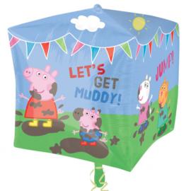 Peppa Pig folieballon cubez 38 x 38 cm.