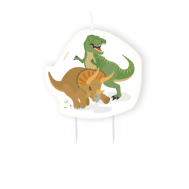 Dinosaurus taart kaars Happy Dinosaur 10 cm.