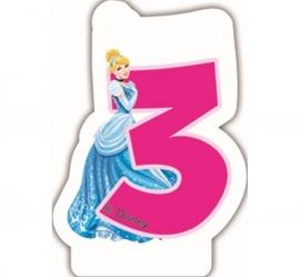 Disney Princess Assepoester 3e verjaardagskaars 6 cm.