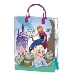 Disney Frozen luxe cadeau tasje Make Your Own Magic 25 x 18,5 x 8 cm.