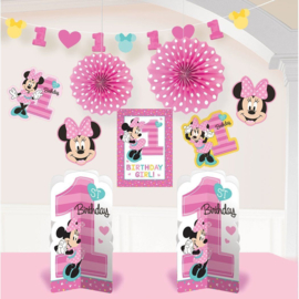 Disney Minnie Mouse decoratie set 1e verjaardag