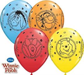 Disney Winnie de Poeh Character ballonnen ø 28 cm. 6 st.