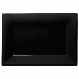 Zwarte wegwerp serveerschalen 33 x 23 cm. 3 st.