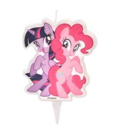 My Little Pony taart kaars Twilight Sparke en Pinkie Pie 6 cm.
