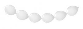 Knoopballonnen wit 3 mtr.