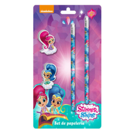Shimmer and Shine potloden en gummen set