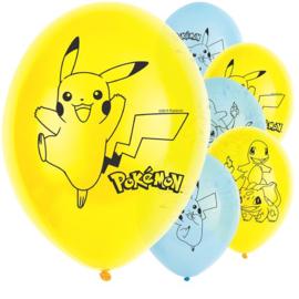 Pokémon ballonnen ø 27,5 cm. 6 st.