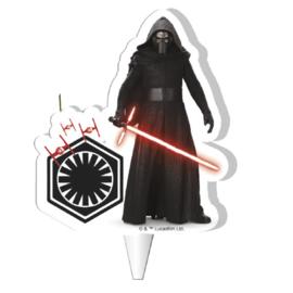 Star Wars Kylo Ren 2D taart kaars 7,5 cm.