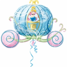 Disney Princess Assepoester in koets folieballon XL