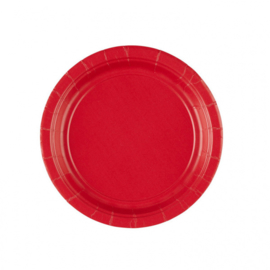 Rode gebak- dessert bordjes ø 17,8 cm. 8 st.