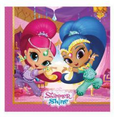 Shimmer and Shine glitter friends servetten 20 st.