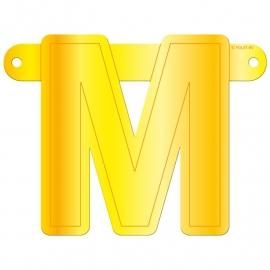 Banner letter M geel
