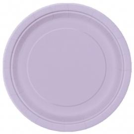 Lavendel wegwerp dessert- gebakbordjes ø 17,1 cm. 8 st.