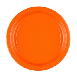 Oranje wegwerp bordjes ø 23 cm. 8 st.