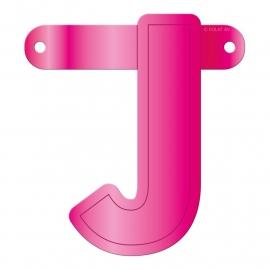 Banner letter J fuchsia