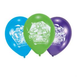 Ninja Turtles ballonnen ø 22,8  cm. 6 st.
