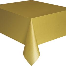 Goud tafelkleed 1,37 x 2,74 mtr.