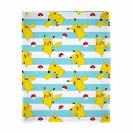 Pokémon fleecedeken Pikachu en Pokeball 100 x 150 cm.