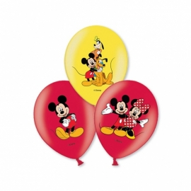 Disney Mickey Mouse full color ballonnen 6 st.