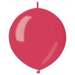 Knoopballonnen metallic rood ø 30 cm. 9 st.