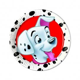 Disney Dalmatiërs gebakbordjes ø 20 cm. 8 st.