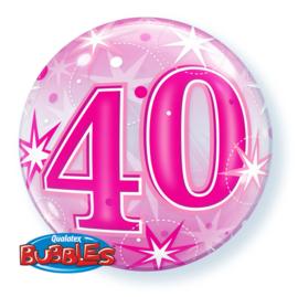 Bubble ballon 40 jaar ø 56 cm.