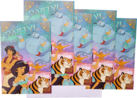 Disney Aladdin uitnodigingen 5 st.