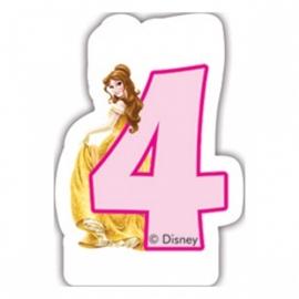Disney Princess Belle 4e verjaardag kaars 6 cm.