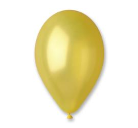 Ballon metallic geel ø 30 cm. 10 st.