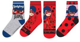 Ladybug sokken mt. 23-26 (3 paar) B